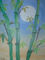 Bamboo by Moonlight 24x30