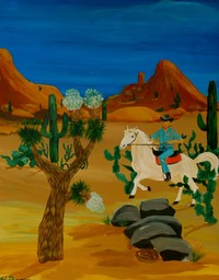 Cowboy in Arizona 70x90