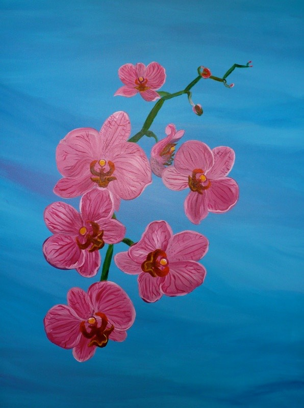 Purple Orchids 70x90