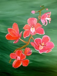 Red Orchids 70x90