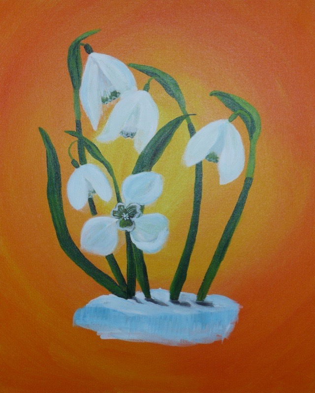 Snowdrops in the Sun 30x40