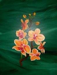 Yellow and Red Orchids 70x90
