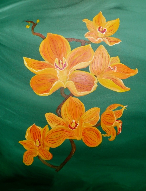 Yellow Orchids 70x90