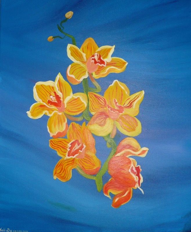 Yellow Orchids II 60x70